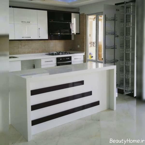 انواع مدل های شیک و متفاوت آشپزخانه اپن