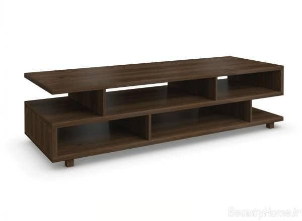 انواع مدل های میز تلویزیون پازلی مدرن
