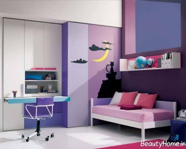 طراحی داخلی اتاق نوجوان با دکوراسیون های زیبا و مدرن
