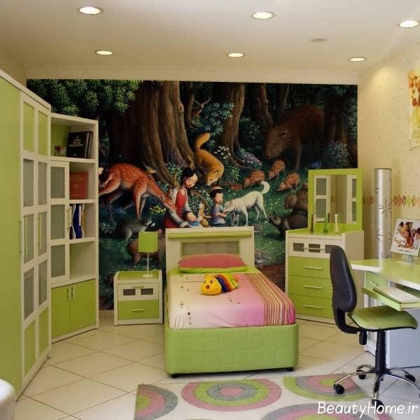 طراحی دکوراسیون اتاق نوجوان دختر و پسر