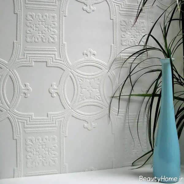کاغذ دیواری با طرح ساده مخصوص محیط های اداری