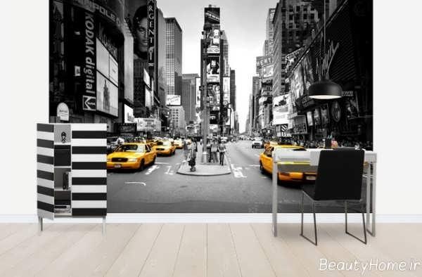 کاغذ دیواری اداری با طرح های شیک و زیبا