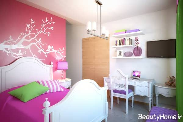 طراحی داخلی اتاق خواب جوان دختر و پسر