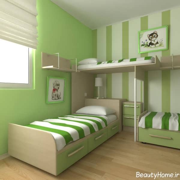 طراحی شیک و زیبا دکوراسیون برای اتاق خواب جوانان