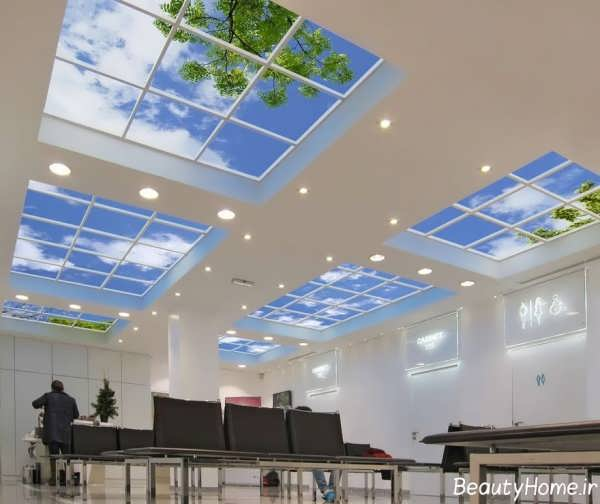 طراحی سقف کاذب و زیبا آسمان های مجازی