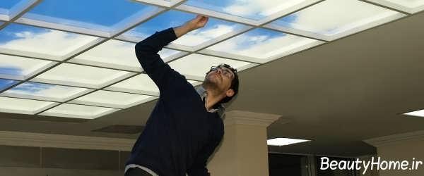 طراحی سقف کاذب آسمان های مجازی