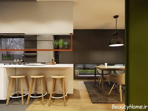 دکوراسیون پاییزی آشپزخانه با رنگ های زیبا