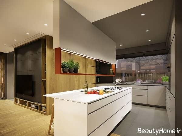 دکوراسیون آشپزخانه با طراحی مدرن