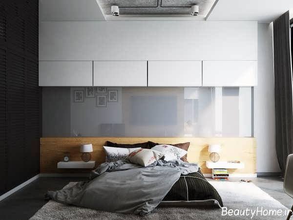 دکوراسیون داخلی اتاق خواب سیاه و سفید