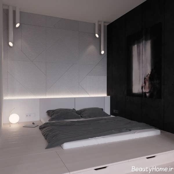 دکوراسیون مدرن و زیبا برای اتاق خواب های سیاه و سفید