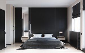طراحی مدرن و زیبا دکوراسیون اتاق خواب سیاه و سفید