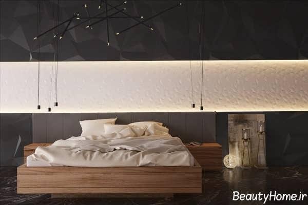 اتاق خواب سفید و سیاه