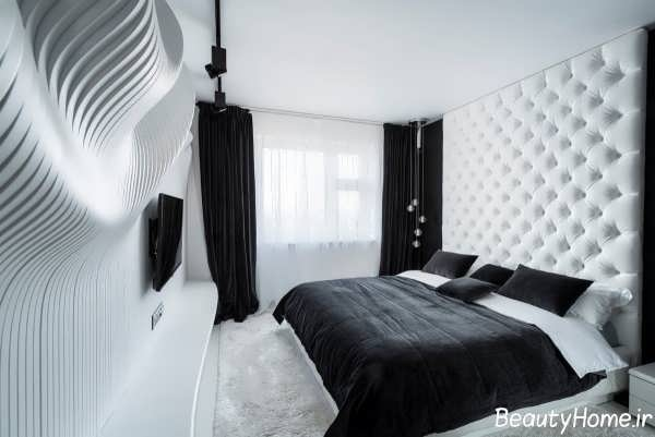 دکوراسیون مدرن و زیبا اتاق خواب ها با رنگ سیاه و سفید