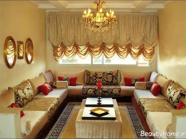 اتاق پذیرایی کلاسیک با دکوراسیون های زیبا