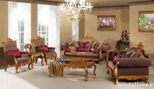 دیزاین اتاق پذیرایی کلاسیک