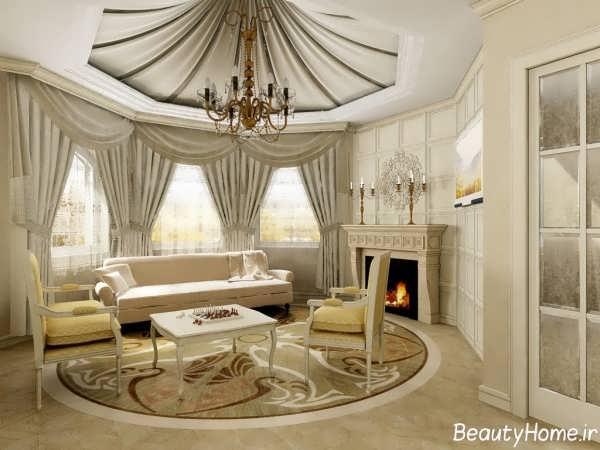 دیزاین پذیرایی با سبک کلاسیک