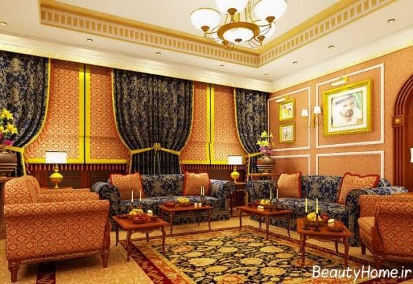 دکوراسیون داخلی اتاق پذیرایی با سبک کلاسیک