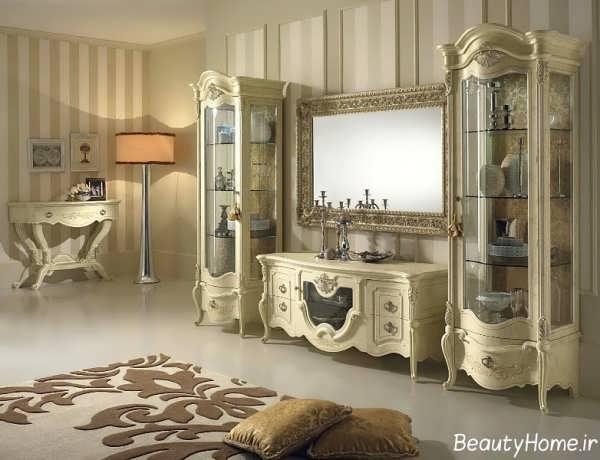 دکوراسیون شیک و زیبا اتاق پذیرایی با سبک کلاسیک