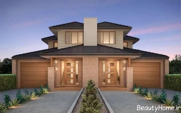 طراحی نمای بیرونی برای خانه های دوبلکس