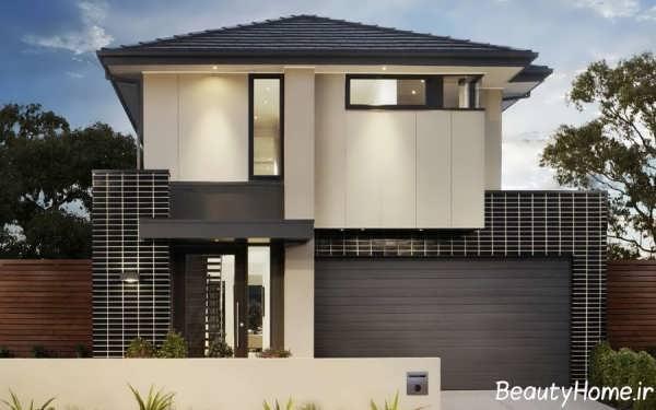 نمای خانه های دوبلکس با طراحی کاربردی و زیبا