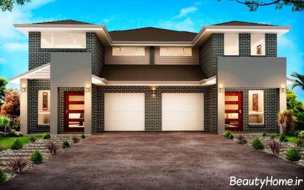 انواع طراحی مدرن برای نمای بیرونی خانه های دوبلکس