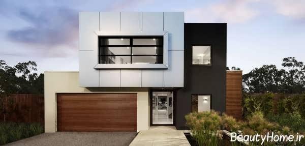 ساختمان دوبلکس با نمای بیرونی مدرن