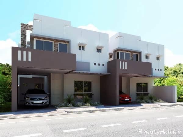 طراحی نمای خارجی ساختمان های دوبلکس و مدرن