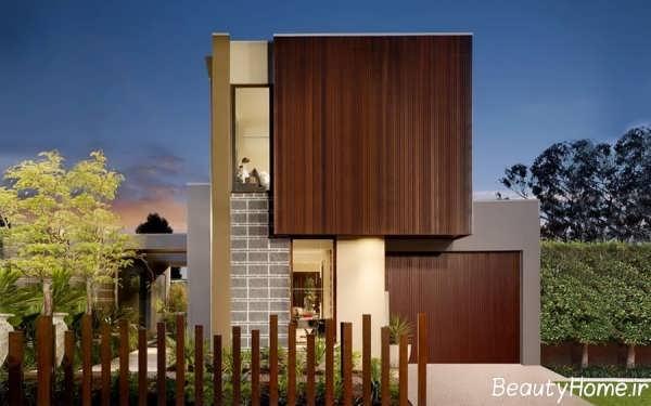 نمای خارجی زیبا و شیک برای ساختمان های دوبلکس