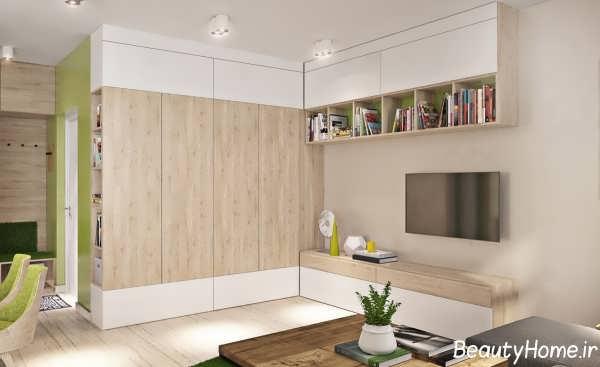 طراحی دکوراسیون داخلی منازل کوچک و شیک