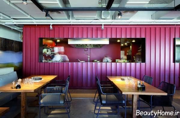 طراحی دکوراسیون رستوران کوچک زیبا و شیک