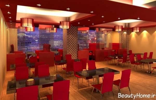 دکوراسیون داخلی رستوران کوچک با دیزاین زیبا