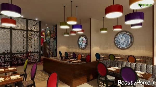 دکوراسیون رستوران کوچک با سبک مدرن