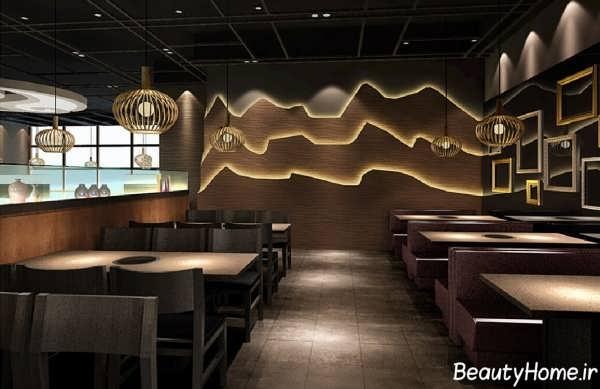 دکوراسیون شیک و زیبا رستوران کوچک