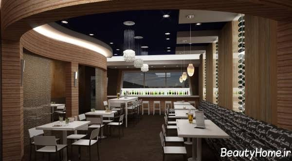 طراحی دکوراسیون شیک و مدرن برای رستوران کوچک