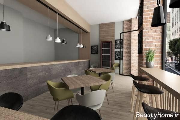 دکوراسیون رستوران کوچک با طراحی زیبا و متفاوت