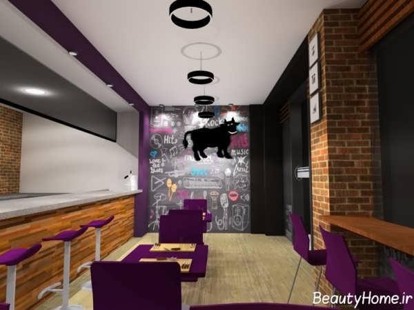 دکوراسیون داخلی رستوران کوچک با طراحی کاربردی