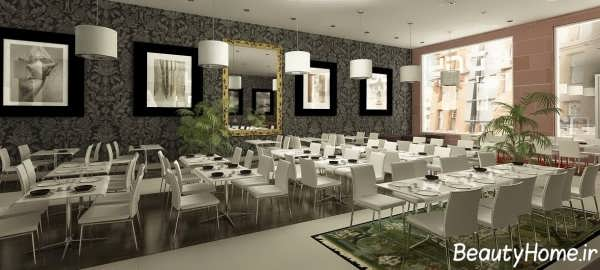 طراحی دکوراسیون داخلی رستوران کوچک