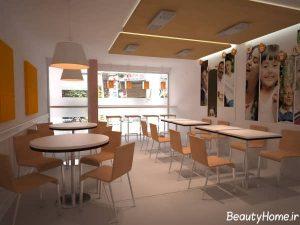 دکوراسیون داخلی انواع رستوران های کوچک