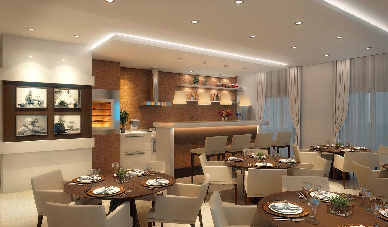دکوراسیون رستوران کوچک با طراحی زیبا و مدرن