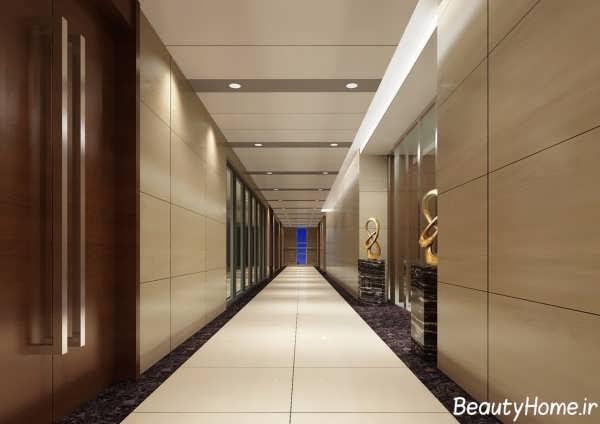 کناف زیبا برای راهروهای ساختمان های مسکونی و تجاری