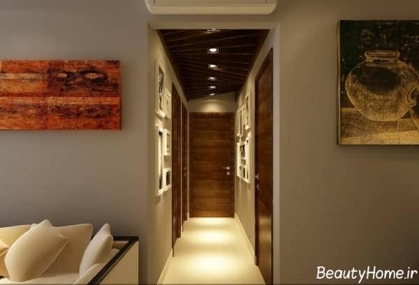 کناف با طراحی زیبا برای راهرو ساختمان