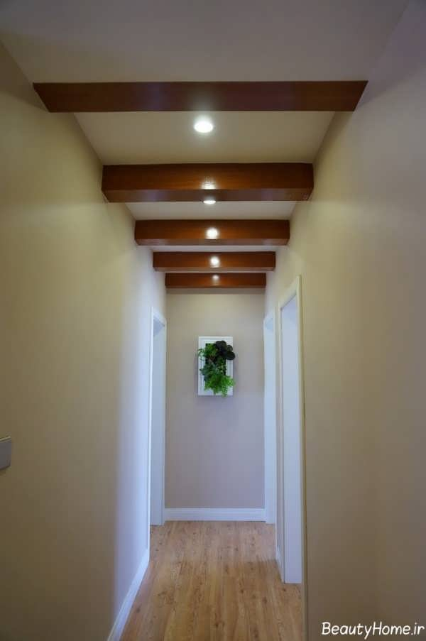 سقف کناف با طرح های زیبا برای راهرو