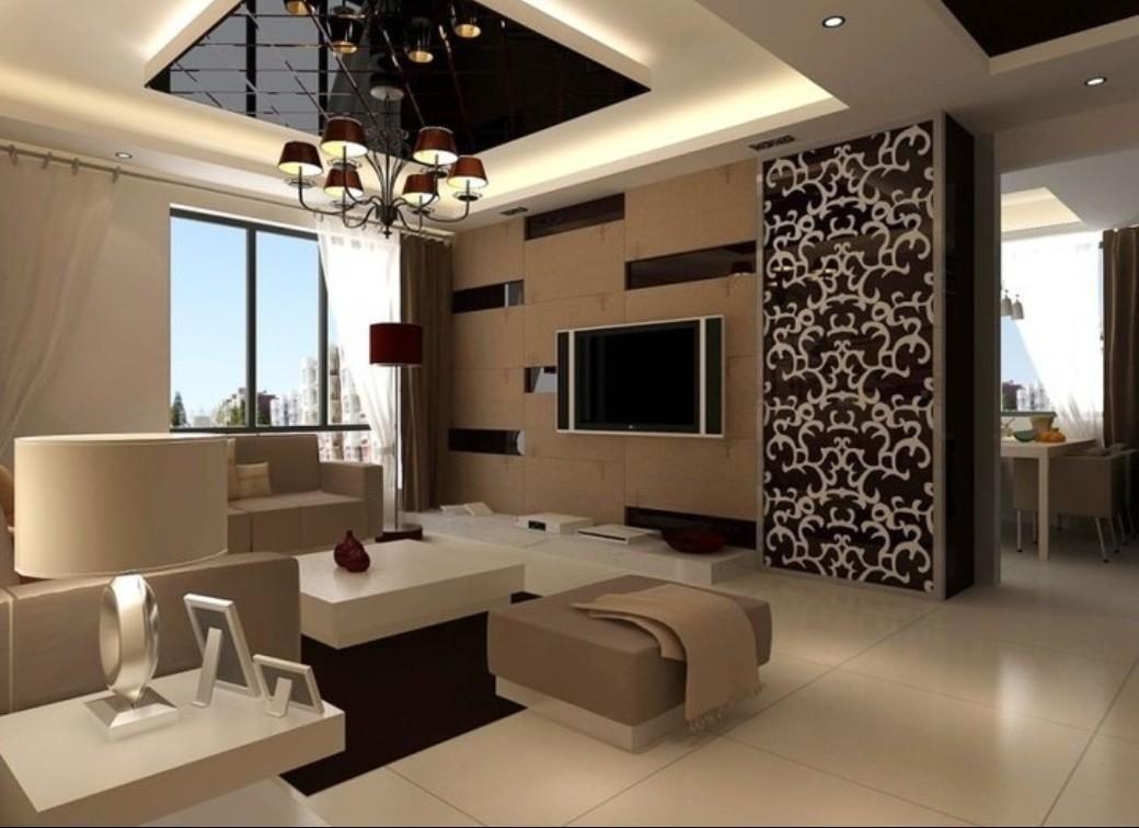 دکوراسیون پذیرایی مربع شکل با طراحی مدرن و زیبا