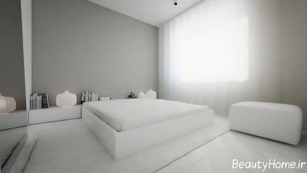 اتاق خواب ساده و مینیمال
