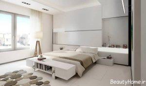 اتاق خواب با دکوراسیون مینیمال و مدرن