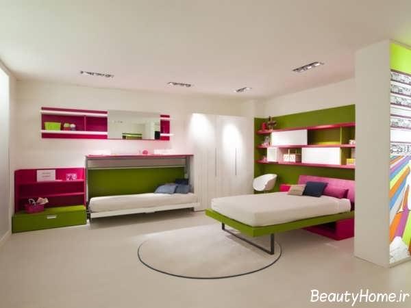 مل تخت خواب تاشو برای اتاق خواب های کوچک