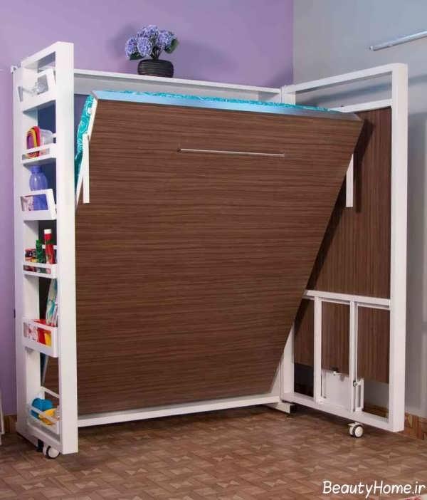 انواع مدل تخت خواب تاشو برای اتاق خواب های کوچک و زیبا