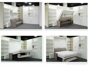انواع مدل های تخت خواب تاشو با طراحی بی نظیر