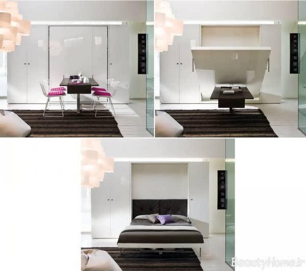 انواع مدل تخت خواب تاشو تک نفره و دو نفره