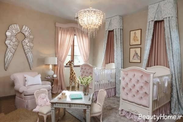 دکوراسیون داخلی اتاق نوزاد دوقلو با طراحی زیبا و متفاوت